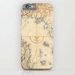 Map of the Arctic and Adjacent Regions (1855) iPhone Case