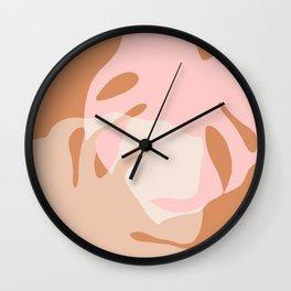 Minimal Monstera Love Duo 2 Wall Clock