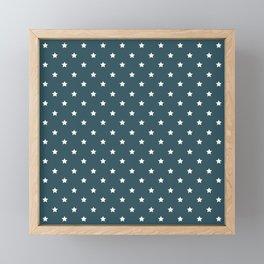 Pattern Formes Etoiles Vert d'eau Framed Mini Art Print
