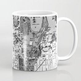 Vintage Map of Sydney Australia (1922) BW Coffee Mug