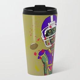 Zombie Football Player Travel Mug
