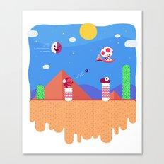 Tiny Worlds - Super Mario Bros. 2: Toad Canvas Print