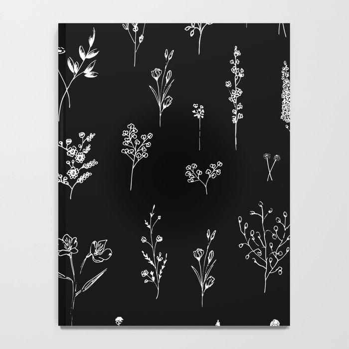 Black wildflowers Notebook