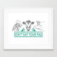 vegan Framed Art Prints featuring Vegan  by Livi