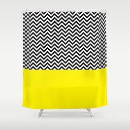 Black & Yellow Shower Curtain