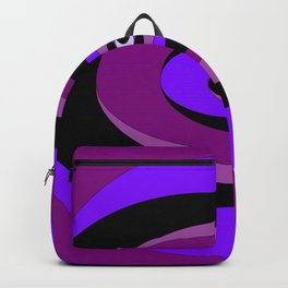 An Abstract Circular Art Design in Purples Backpack