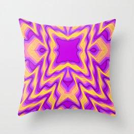 yellow purple Throw Pillow