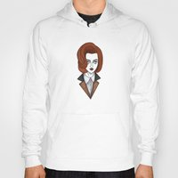 dana scully Hoodies featuring dana scully by Bunny Miele
