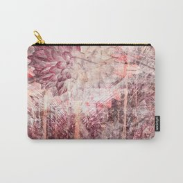 Mauve Grunge Flower Carry-All Pouch
