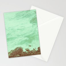 Ocean Coast - Vintage Seals in the Green Sea Water Stationery Cards