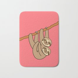 Cute Sloth!! Bath Mat