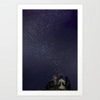 the colour of the sky Art Print
