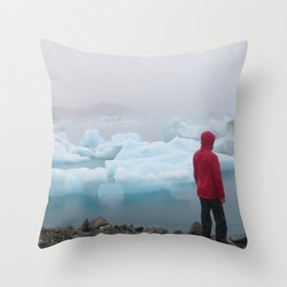 Iceberg Alone in the rain | perfect Wine Chiller | Landscape &Travel Photography Throw Pillow