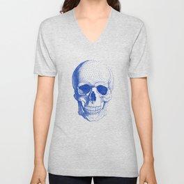 Blue skull Unisex V-Neck