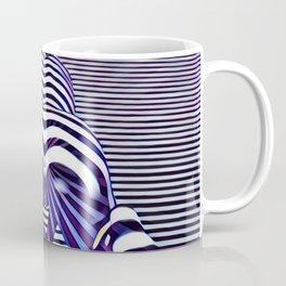 2519s-JPC Blue Striped Nude Woman From Behind Coffee Mug