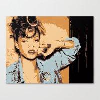 rihanna Canvas Prints featuring Rihanna  by GOLDY