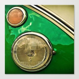 Vintage 21-window classic in green wall art - photograph Canvas Print