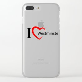 Westminster. I love my favorite city. Clear iPhone Case