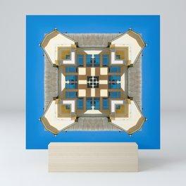 elements of architecture, building against the blue sky Mini Art Print