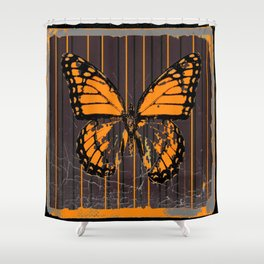 SHABBY CHIC ANTIQUE BUTTERFLY ART Shower Curtain
