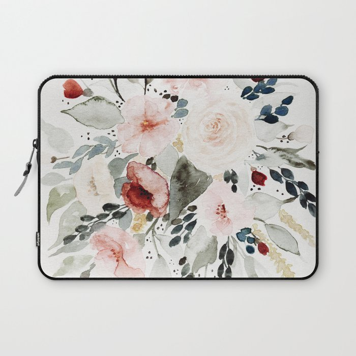 Loose Watercolor Bouquet Laptop Sleeve