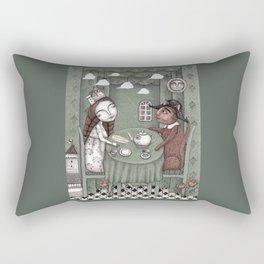 When it Rains Outside Rectangular Pillow