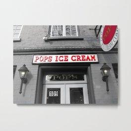 Pops ice cream - Photo Metal Print