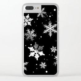 NOIR SNOWFLAKE PATTERN Clear iPhone Case