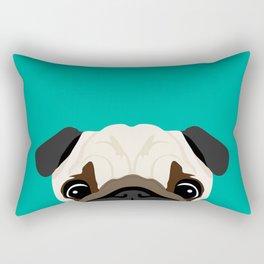 Peeking Pug Rectangular Pillow