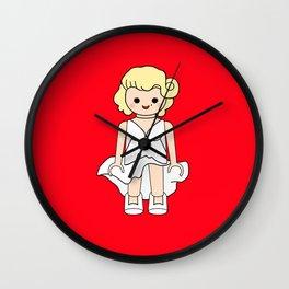 Marilyn estilo playmobil Wall Clock