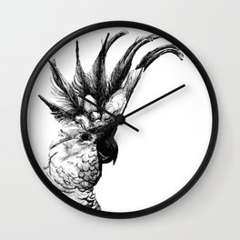 Cocky cockatoo Wall Clock
