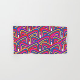 Pink and Blue Pattern. Hand & Bath Towel