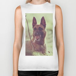 Malinios Beauty dog picture Biker Tank