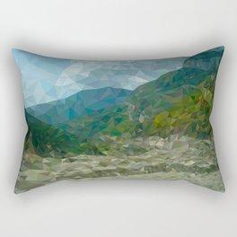 Mountain landscape in polygon technique Rectangular Pillow
