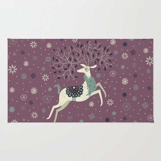 Prancing Reindeer Rug