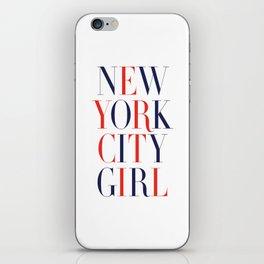 New York City Girl iPhone Skin