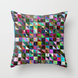 glitch color pattern Throw Pillow