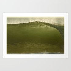 Verde Tubo Art Print