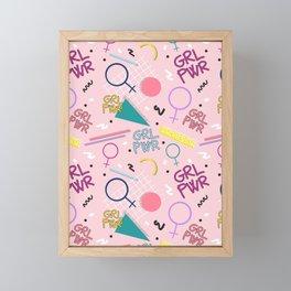 GRL PWR #society6 #pattern #grlpwr Framed Mini Art Print