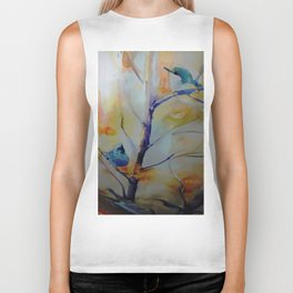 Unique Perspective Birdlife watercolor by CheyAnne Sexton Biker Tank