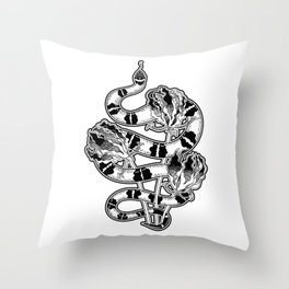 Beautiful Art Tattoo Snake Throw Pillow