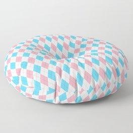 Transgender Argyle Floor Pillow