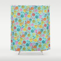 roses Shower Curtains featuring ROSES by Bianca Green