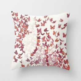 Butterfly People 4 Throw Pillow