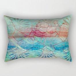 Pastel Seashell Mosaic Rectangular Pillow