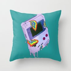 Gameboy Melt Throw Pillow