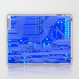 Blue Circuit Board  Laptop & iPad Skin