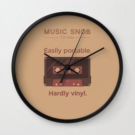 Cassettes. — Music Snob Tip #062 Wall Clock