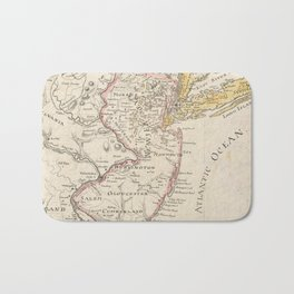 Vintage Map of New Jersey (1780) Bath Mat