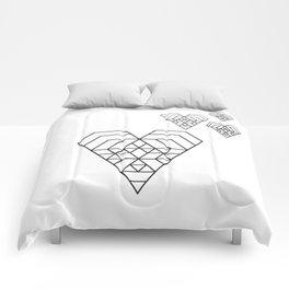 Hex heart Comforters